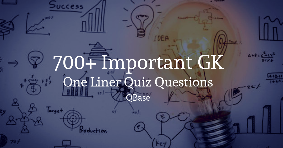 important gk one liner quiz
