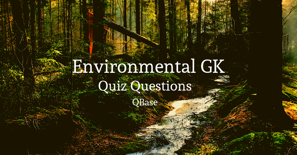 important environment quiz questions