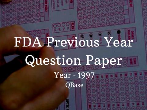 FDA Previous Year Question Paper in Kannada