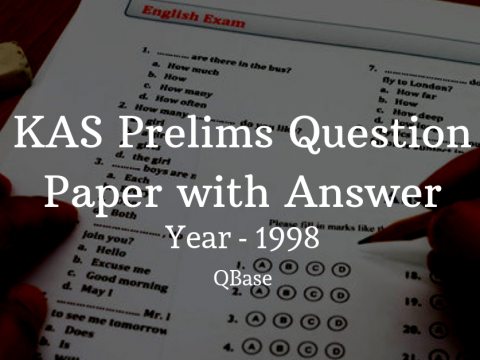 KAS Prelims Question Paper with Answer