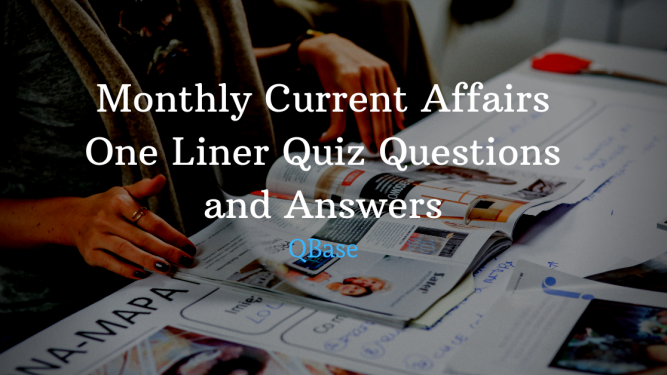 Current Affairs 2019 June One Liner 1